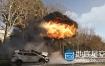 C4D教程:汽车爆炸场景模拟特效