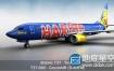 3D模型 波音飞机CubeBrush – Boeing 737-800 GoldbAIR
