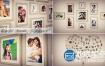 AE模板生日唯美浪漫结婚纪念日毕业相册模板