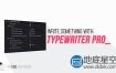 AE预设:高级打字机效果动画 Typewriter Pro