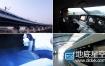 视频素材:城市高速发展高铁穿越城市实拍素材