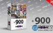 900种AE模板样式+557种PR预设:文字字幕条标题基本图形动画