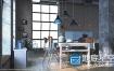 C4D Octane渲染预设:100组玻璃钢铁布料塑料大理石木纹器4K材质