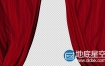 视频素材:经典红色戏剧舞台窗帘丝绸开场闭幕视频动画