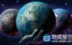 AE模板宇宙空间科幻行星熔岩地球动画
