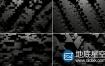 VJ视频素材:3D立体黑酷蜂巢效应图形动画