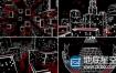 VJ视频素材:35组3D城市虚拟光线艺术抽象LED背景素材