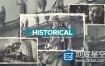 AE模板复古风格照片历史纪录片回忆相册幻灯片动画