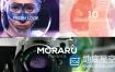AE模板相机镜头聚焦显示时尚标题波纹图片动画