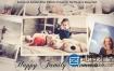 AE模板幸福家庭相册结婚周年纪念日派对生日祝福毕业