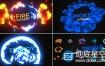 AE模板214组MG卡通动漫电流能量闪光火焰烟雾动画