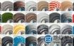 C4D材质包:350+车漆陶瓷混凝土金属织物玻璃木材Arnold/Octane/Redshift材质包