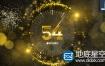 AE模板-金色的时钟2019新年倒计时片头动画