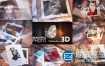 AE模板-唯美婚礼纪念日生日祝福相册掉落展示片头动画