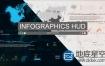 AE模板-未来高科技科幻屏幕感信息数据HUD动画简洁元素包