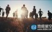 视频素材:青少年在夕阳下奔跑活力青春