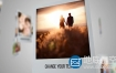AE模板-空间感拍立得照片电子相册展示