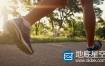 视频素材:实拍清晨跑步健身腿部特写