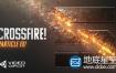 AK大神AE教程:高级粒子撕裂划痕三维LOGO标志制作Crossfire Particle FX Tutorial+中文字幕