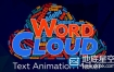 AE脚本:文字汇聚图形变换动画 Aescripts Word Cloud v1.0.3