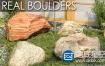 3D模型:石头石块模型 VIZPARK Real Boulders 3Ds Max