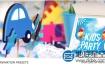 AE模板:三维场景儿童logo标志演绎片头动画Kids Logo Opener