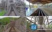 视频素材:4K超清实拍游乐园第一人视角过山车视频