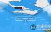 AE模板-亚洲旅游地图地点线路连线动画World Travel Maps – Asia