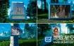 AE模板-现实森林中的图像家庭生日祝福婚礼结婚纪念日相册