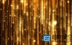 AE模板-4K金色闪耀粒子循环落下Golden Particles