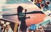 AE模板-水墨笔刷画笔家庭旅游照片结婚纪念日生日相册动画