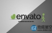 AE模板-3D创意火柴人拉logo标志片头动画