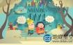 AE模板-立体书翻页卡通童话故事动画 Pop-Up Book