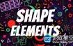 AE模板-777+MG卡通形状图形设计元素包Shape Elements
