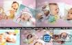 AE模板-可爱的婴儿儿童照片生日相册动画 Baby Photo Album Lovely Slideshow