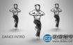 AE模板-迪斯科娱乐俱乐部夜总会素描人物舞蹈 Dance Intro
