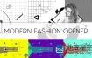 AE模板-现代时尚多彩设计黑白图形元素电视栏目包装