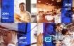 AE模板-企业公司时间线历程演示动画 Corporate Timeline Presentation