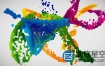 AE模板-液体水墨多彩油漆喷溅粒子logo标志展示动画 Liquid Logo