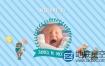 AE模板-儿童婴儿卡通生日相册动画Kids Slideshow