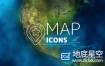 AE模板-地图各种天气预报图标ICON动画 Map & Weather Forecast Icons