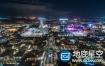 视频素材:航拍城市繁忙的街道交通延时视频
