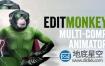 AE脚本:多图层运动一键处理动画 Aescripts EditMonkey V1.02
