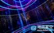 视频素材:VJ视频LED转动星光荧光粒子雨动态视频
