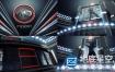 AE模板:黑色的三维广播体育舞蹈电视栏目logo展示片头动画 BlacKnight II