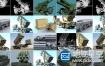 3D模型:导弹车高射炮等军事武器合集
