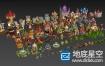 3D模型:卡通风格国王村庄低聚游戏场景合集