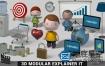 AE模板+3D卡通模块化卡通动画包