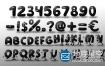 AE模板-卡通字母人物数字排列logo展示动画