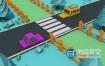 C4D工程:卡通低多边形城市交通模型
